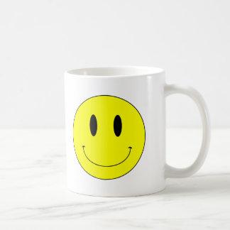 Cara sonriente amarilla del KRW Taza De Café