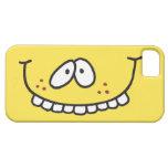 cara sonriente amarilla dentuda linda tonta iPhone 5 cárcasa