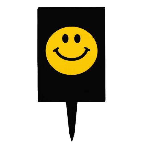 Cara sonriente amarilla figuras para tartas