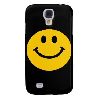 Cara sonriente amarilla funda para galaxy s4