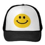 Cara sonriente amarilla gorras