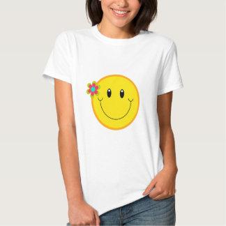 Cara sonriente amarilla grande poleras