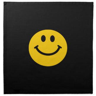 Cara sonriente amarilla servilleta