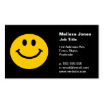 Cara sonriente amarilla tarjetas de visita