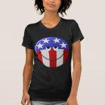 Cara sonriente americana camiseta
