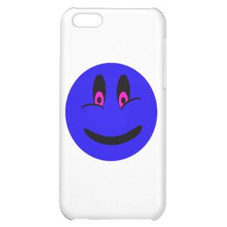 Cara sonriente azul