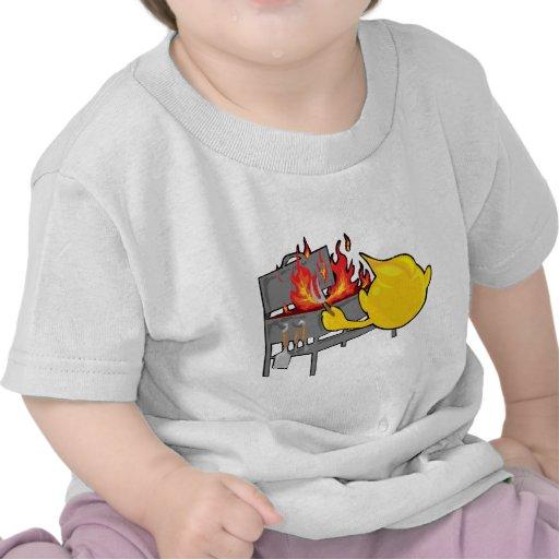 cara sonriente bbqing camisetas