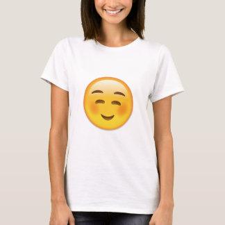 Cara sonriente blanca Emoji Playera