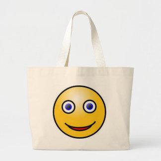 Cara sonriente bolsas