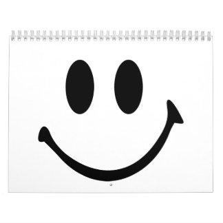 Cara sonriente calendarios