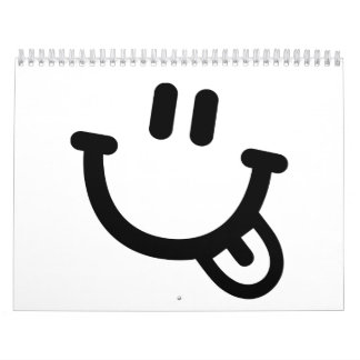 Cara sonriente calendario de pared