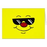 Cara sonriente cambiante Grumpey Felicitación