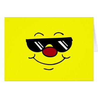 Cara sonriente cambiante Grumpey Tarjeta Pequeña