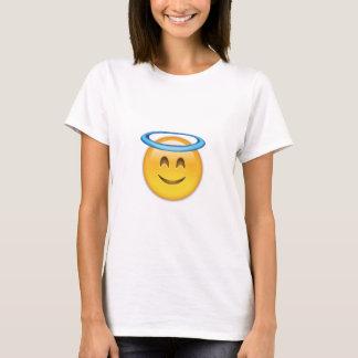 Cara sonriente con el halo Emoji Playera