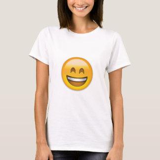 Cara sonriente con la boca abierta y ojos playera