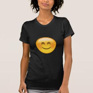 Cara sonriente con los ojos sonrientes Emoji Playera