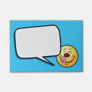 Cara sonriente contenta Grumpey Nota Post-it®