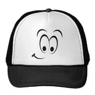 Cara sonriente coqueta gorras