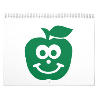 Cara sonriente de Apple Calendario De Pared