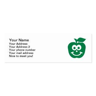 Cara sonriente de Apple Plantilla De Tarjeta De Negocio