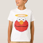 Cara sonriente de Elmo con halo Playera