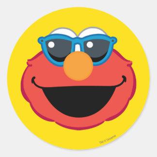 Cara sonriente de Elmo con las gafas de sol Pegatina Redonda