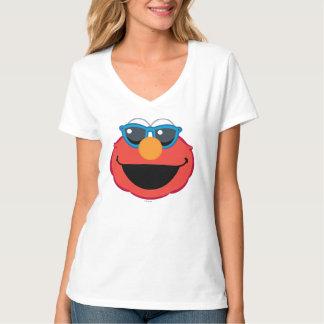 Cara sonriente de Elmo con las gafas de sol Playera