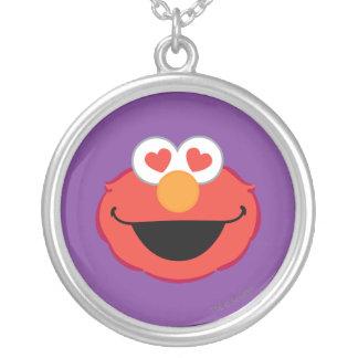 Cara sonriente de Elmo con los ojos en forma de Colgante Redondo