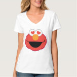 Cara sonriente de Elmo con los ojos en forma de Playeras