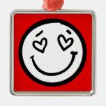 Cara sonriente de encargo en fondo rojo adorno para reyes