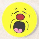 Cara sonriente de gimoteo Grumpey Posavasos Manualidades