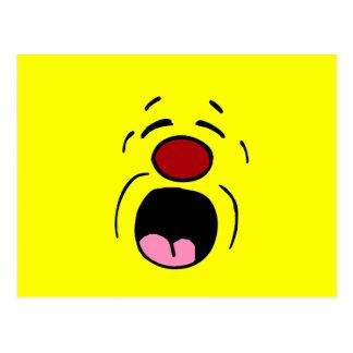 Cara sonriente de gimoteo Grumpey Postales