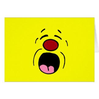Cara sonriente de gimoteo Grumpey Tarjetón