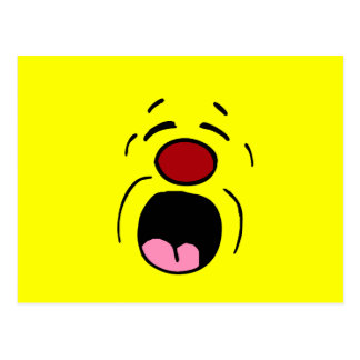 Cara sonriente de gimoteo Grumpey Tarjeta Postal