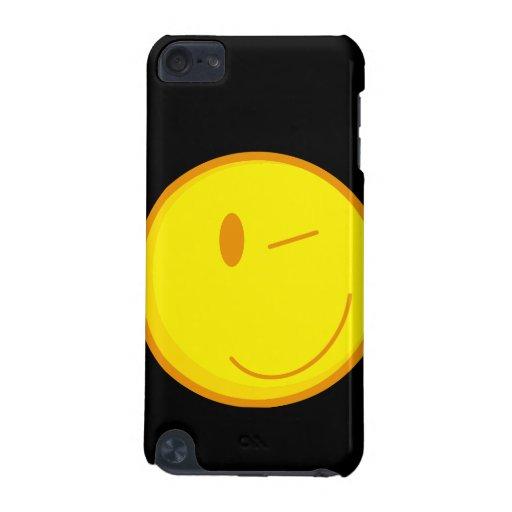 cara sonriente de guiño linda funda para iPod touch 5G