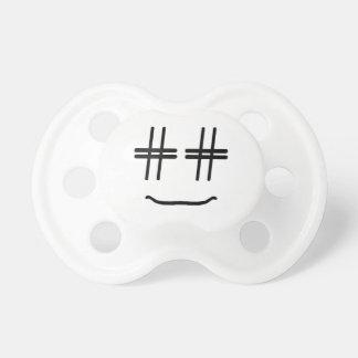 # cara sonriente de Hashtag CUAESQUIERA medios Chupetes Para Bebes