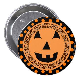Cara sonriente de la calabaza de Halloween Pins