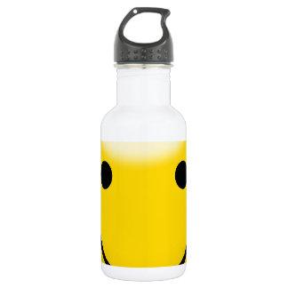 Cara sonriente de la felicidad botella de agua