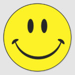 Cara sonriente de la felicidad etiquetas