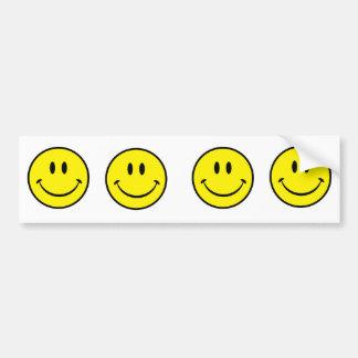 Cara sonriente de la felicidad pegatina para auto