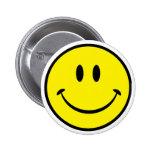 Cara sonriente de la felicidad pin