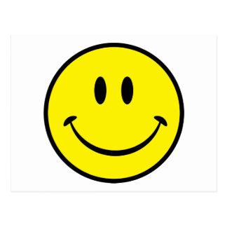 Cara sonriente de la felicidad postales