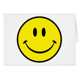 Cara sonriente de la felicidad tarjeton