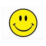 Cara sonriente de la felicidad tarjeta postal