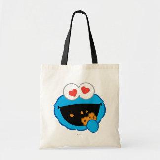 Cara sonriente de la galleta con los ojos en forma