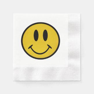 Cara sonriente de oro servilleta desechable