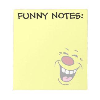 Cara sonriente de risa Grumpey Bloc De Papel