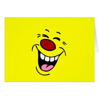Cara sonriente de risa Grumpey Tarjetón