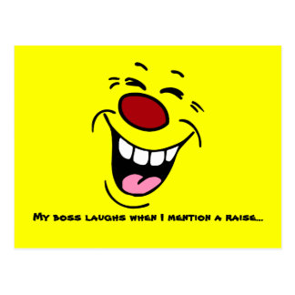 Cara sonriente de risa Grumpey Tarjeta Postal