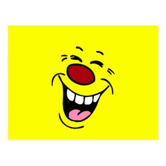 Cara sonriente de risa Grumpey Postales
